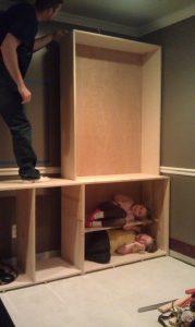 kids in cabinet